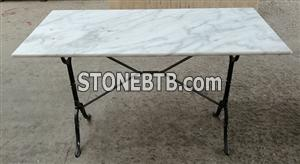 White Marble Table Set