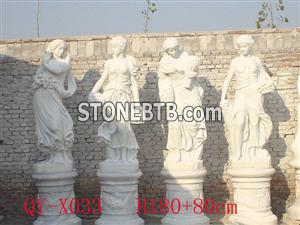 White Marble Virgin Mary Sculpture