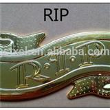 Decorative Coffin Accessory Coffin Accessories RIP With Plastic Material For Coffin