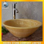 Yellow Marble Honey Onyx Stone Sink for Sale