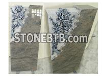 Himalaya Blue Granite Headstone For Cemetery