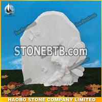 China White Marble Angel Headstone For Children