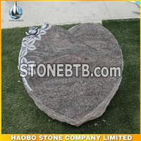 Paradiso Granite Small Heart Shaped Gravestone Granite Memorial Stone