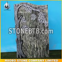 Yunnan Green Tree Carving Headstone For Graves