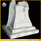 China White Marble Weeping Angel Tombstone