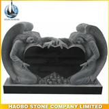Shanxi Black Granite Double Angel Headstone