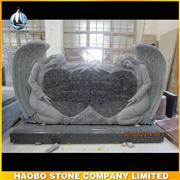 Double Angel Heart Blue Pearl Granite Headstone And Monuments