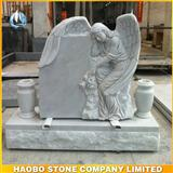 China White Marble Angel Tombstone