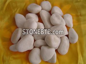 China White Marble Pebble Stone