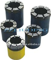 Impregnated diamond core bit