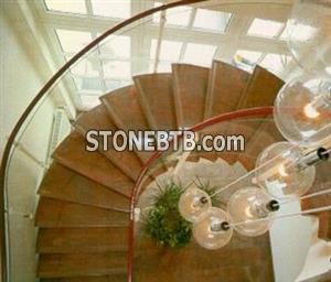 Multicolor Red Granite Stairs