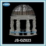 large outdoor marble gazebo