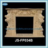 pink/white/green/sand Marble Fireplace