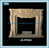 white green beige marble fireplace