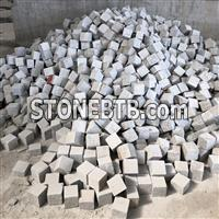 Light grey granite cobble stone