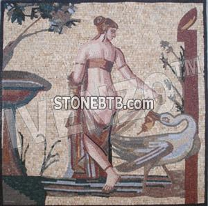 FK005-Mosaic Leda and the swan