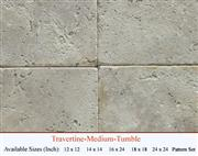 Medium Travertine tumbled