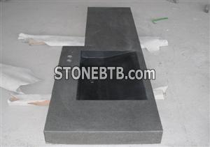 Shanxi Black flamed and brushed top