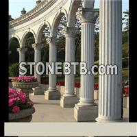 Gray Stone Granite Column Pillars