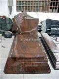 China Brown Granite Tombstone, Granite Monument