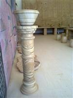 China Yellow Sandstone Pedestal Column