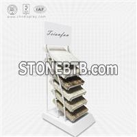 quartzite sample wire table display rack-SRT2017