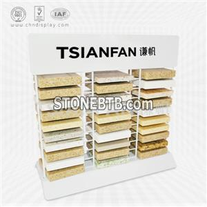 Desktop Iron Wire Stand For Artificial Stone,Three Columns-SRT2010