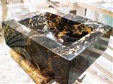 Black and Gold Wash Basin