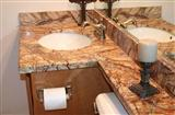 Countertop , Vanity Top , Chinese Countertop , Marble Countertop , Tropical Rainforest Brown Countertop