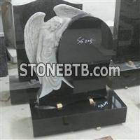 China Black Angel Headstone for England
