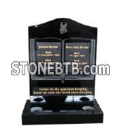 Hot Sale Bible Headstone with Lettering in Color BlackHot Sale Bible Headstone with Lettering in Color Black