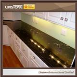 Luxury Via Lactea Granite Countertop Small Home Kitchen Design