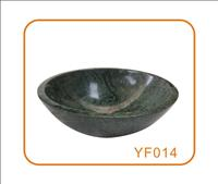 Round Shape Indian Green A  Stone Wash Basin