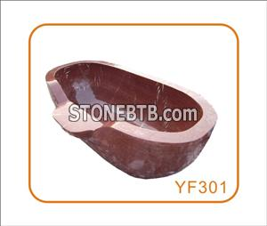 Monte Red Marble Bathtub with Low Price