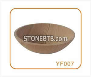 Wood grain Sandstone Stone Wash Basin