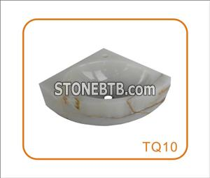Triangle Onyx Stone Hand Wash Basin