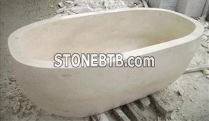 Travertine Stone Bath Tub for Bathroom