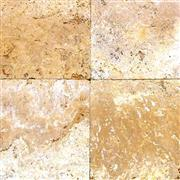 Travertine Tile - Golden Sun