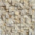 LINT1 3D beige travertine mosaic travertine backsplash hot models in European with antique style