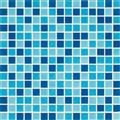 FM002 Blue mix glass pool mosaic project base