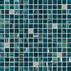 GS101 silver aquamarine gold line mix mosaic glass mosaic bathroom mosaic