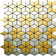 BMX03 Gold Silver Stainless Brushed mosaic metal mosaic lobby wall tile