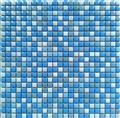 OPR017 blue china romano mosaico random wall tile floor mosaic tile