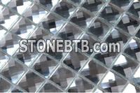PM112 Silver diamond mirror glass mosaic decorative tile