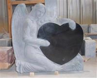 Ange Tombstone With Heart