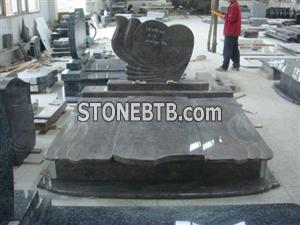Dark Granite Gravestone