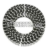 Sanshan 11.5mm/12mm Diamond Rubberized Wire Saw Rubberized Rope Stone Cutting Wire Saw For Marble Quarries Cuting