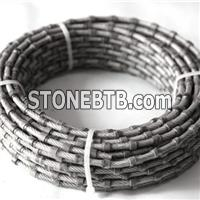 Sanshan 8.8mm/9mm/10.5/11mm Diamond Plastic Wire Saw To Cut Marble Plastic Rope For Marble Quarries Finishing Tools To Cut Marble Slab