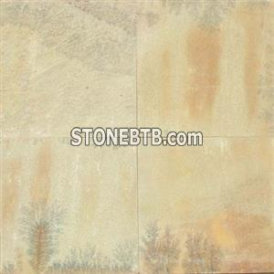 Yellow Fossil Natural Sandstone