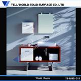 Tell World Brand Factory supply bathroom cabinet, counter top
